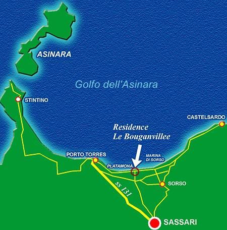 Stintino Cartina Geografica.Le Bouganvillee Residence Sardinia Where We Are